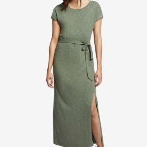 NWT! Sanctuary Tie Slitted T-Shirt Maxi Dress Gree